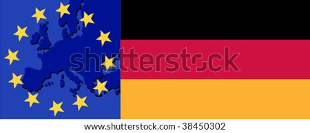 Flag of Germany and EU