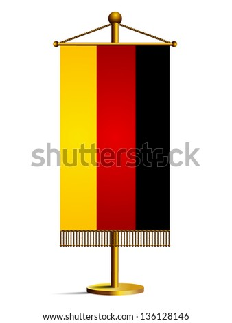Flag of Germany. Vector - stock vector