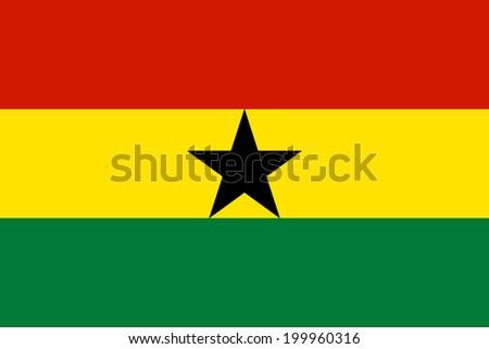 Flag of Ghana. Vector illustration. - stock vector
