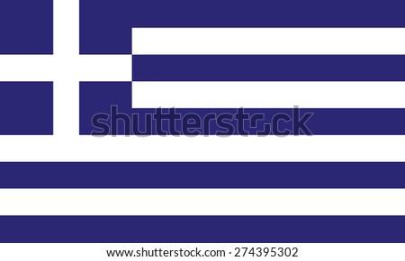 Flag of Greece. Vector illustration - stock vector