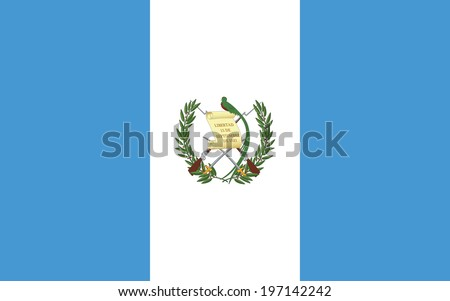 Flag of Guatemala. Vector. - stock vector