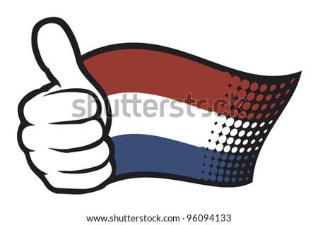 flag of holland (flag netherlands) - stock vector