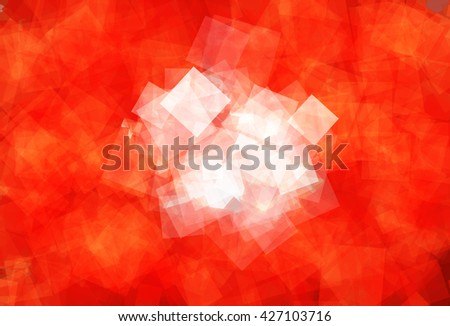 Flag of Hong Kong (Hong Kong Special Administrative Region of the People's Republic of China) in Vector Square Design - stock vector