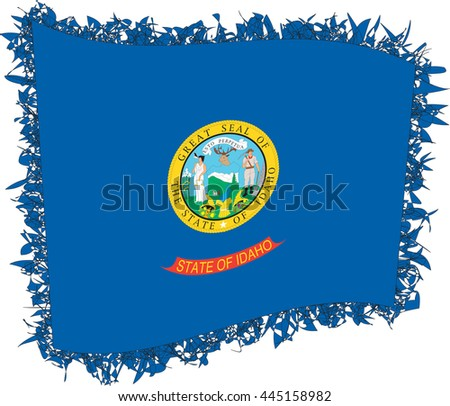 flag idaho vector illustration stylized flag stock vector 445158982 rh shutterstock com idaho wind vectors