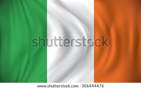Flag of Ireland - vector illustration - stock vector