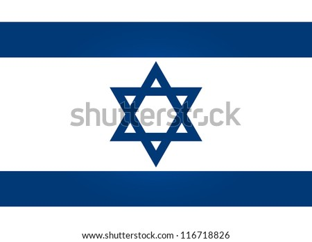 Flag of Israel - stock vector
