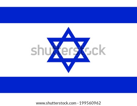 Flag of Israel. Vector illustration.