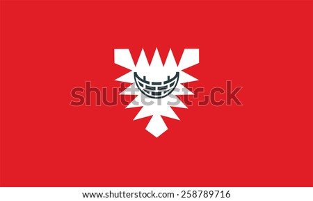 Flag of Kiel city, Schleswig-Holstein state, Germany. Original and simple flag isolated vector in official colors and Proportion Correctly, vector illustration isolated - stock vector