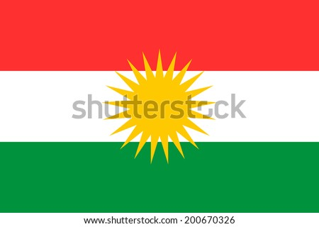 Flag of Kurdistan. Vector illustration.