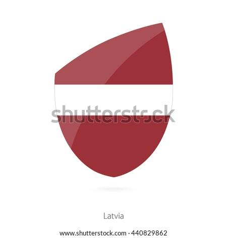 Flag of Latvia. Latvian Rugby flag. Vector Illustration. - stock vector