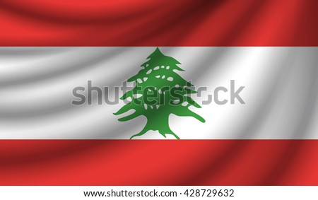 Flag of Lebanon, vector illustration