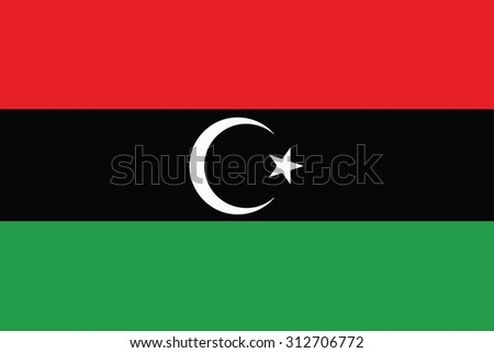 Flag of Libya. Vector illustration.