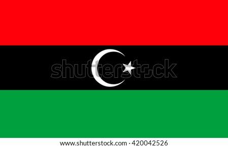 Flag of Libya vector image - stock vector