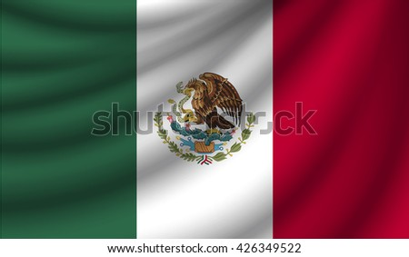 Flag of Mexico, vector illustration - stock vector