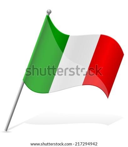 flag of Mexico vector illustration isolated on white background - stock vector
