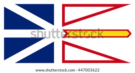 Flag of Newfoundland and Labrador is the most easterly province of Canada - stock vector