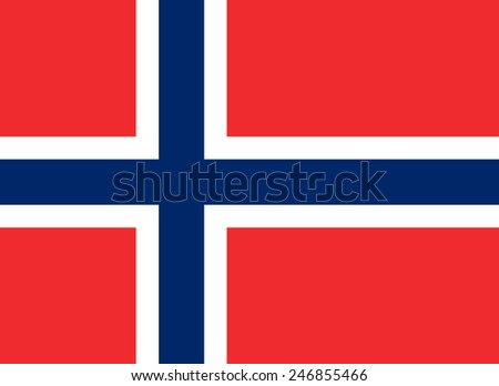 Flag of Norway - stock vector