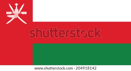 Flag of Oman. Vector. Accurate dimensions, element proportions and colors. Accurate dimensions, element proportions and colors. - stock vector