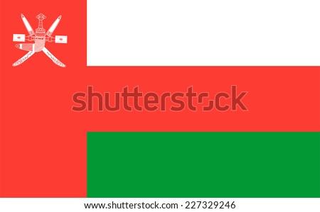 Flag of Oman vector illustration. - stock vector