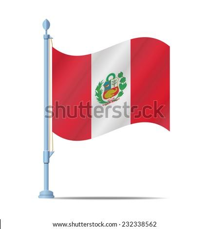 Flag of Peru vector illustration - stock vector