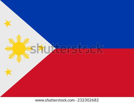 Flag of Philippines vector illustration - stock vector