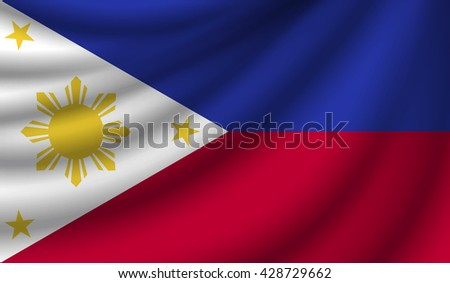 Flag of Philippines, vector illustration - stock vector