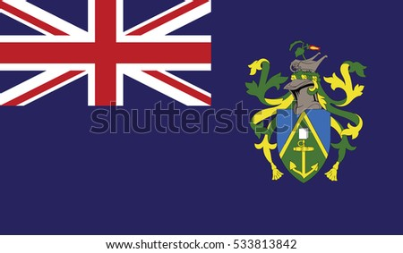 flag of pitcairn islands vector icon illustration eps10