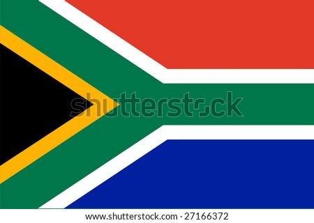 Flag of RSA. Illustration over white background - stock vector