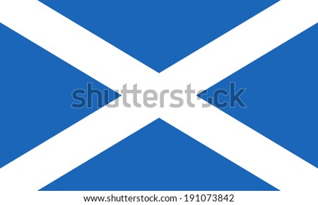 Flag of Scotland. Saint Andrew's Cross. Vector. Accurate dimensions, element proportions and colors. - stock vector
