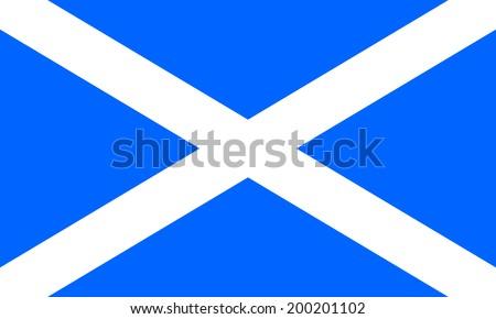 Flag of Scotland. Vector illustration. - stock vector