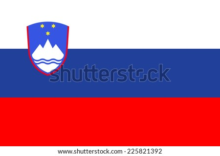 Flag of Slovenia - stock vector