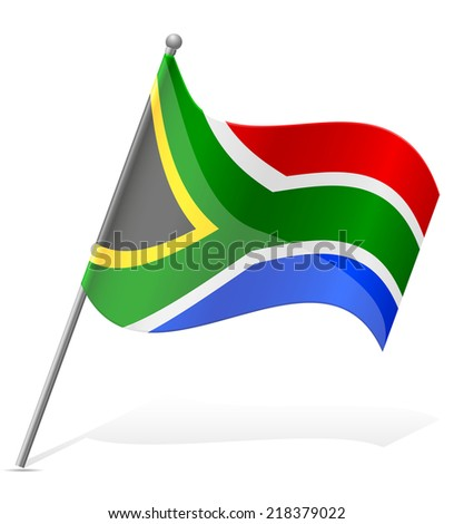 flag of South African Republic vector illustration isolated on white background - stock vector