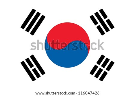 Flag of South Korea - stock vector