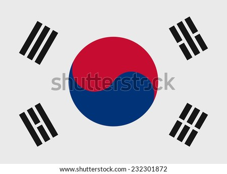 Flag of South Korea vector illustration - stock vector