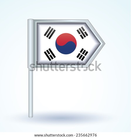 Flag of South korea, vector illustration