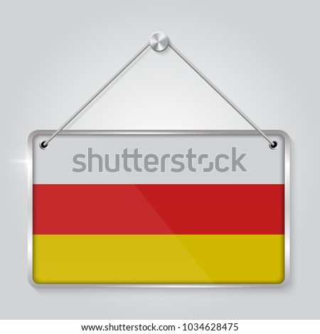 Flag South Ossetia Symbol State Pennant Stock Vector (2018 ...