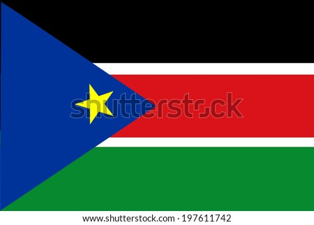 Flag of South Sudan vector in accurate dimensions and color. - stock vector