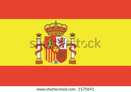 Flag of Spain in the wind. - stock vector