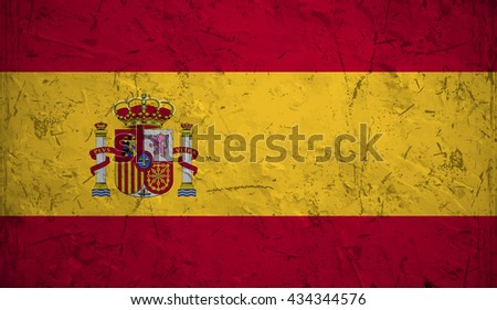 Flag of Spain or Spanish banner