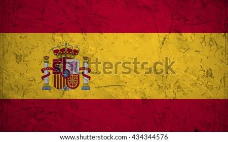 Flag of Spain or Spanish banner - stock vector