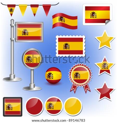 flag of spain vector - stock vector