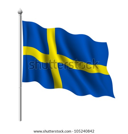 Flag of Sweden. vector illustration - stock vector