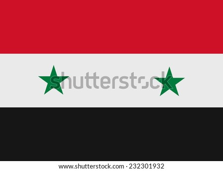 Flag of Syria vector illustration - stock vector