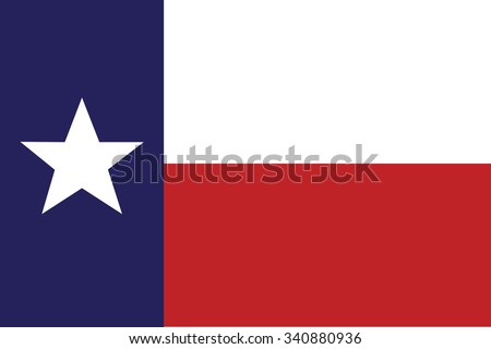 Flag of Texas state of the United States. Vector illustration. - stock vector