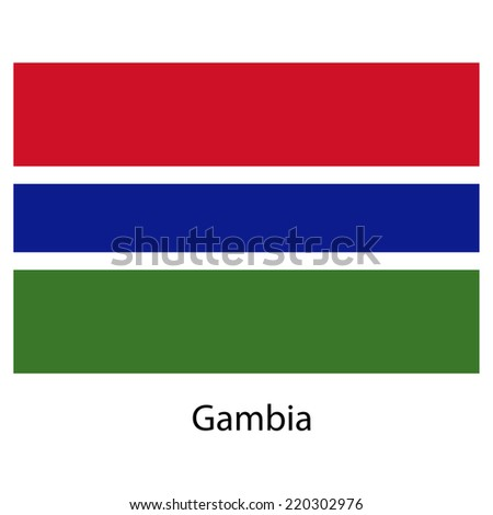 Flag  of the country  gambia. Vector illustration.  Exact colors.  - stock vector