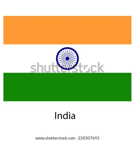 Flag  of the country  india. Vector illustration.  Exact colors.  - stock vector