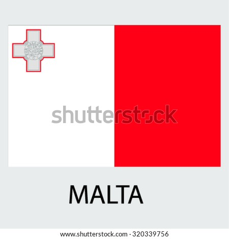 Flag of the country Malta Malta - stock vector