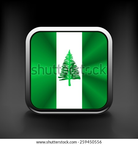 Flag  of the country  Norfolk Island. Vector illustration.  Exact colors. - stock vector