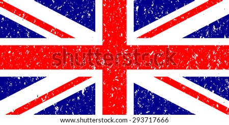 Flag Of The Great Britain - stock vector