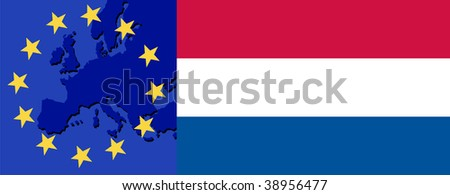 Flag of the Netherlands and EU